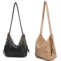 Stars Retro Rivet Shoulder Bag
