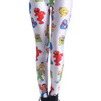 ROMWE | Sesame Street Characters Print Leggings, The Latest Street Fashion