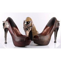 Titan Steampunk Peep Toe Pump MS-TITAN by Hades Alternative