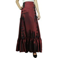 Burgundy 3 Way Long Gothic Skirt CS-501011-Q60101 by China Doll