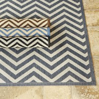 Chevron Stripe Indoor/Outdoor Rug | European-Inspired Home Furnishings | Ballard Designs
