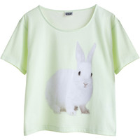 MTWTFSS Weekday Name It Rabbit Tee Green