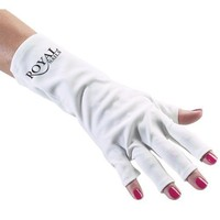 ROYAL NAILS ANTI UV GLOVES FOR UV LIGHT/LAMP NAIL DRYER ONLY NAIL EXPOSED: Beauty