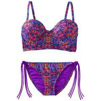 Xhilaration Junior&#x27;s  Printed 2-Piece Bikini Swimsuit