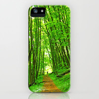 Walk through green leaves iPhone & iPod Case by Pirmin Nohr