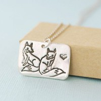 Handmade Gifts | Independent Design | Vintage Goods Silver Fox Love Necklace - Jewelry - Girls