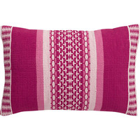 "saudades magenta 18""x12"" pillow"