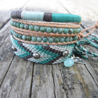 The Beach Bohemian Bracelet Set  In light gray pale by Nolie9238