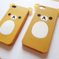 SALE 80-20%OFF: Rilakkuma iPhone 4 and iPhone 5 case, iPhone cover, case for iPhone, Anime, Cartoon, japanese