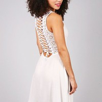 Lace-Up Delight Dress | White Dresses at Pink Ice