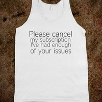 &quot;COUNT ME OUT&quot; TANK