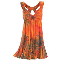 Sacral Orange Dress                                - New Age, Spiritual Gifts, Yoga, Wicca, Gothic, Reiki, Celtic, Crystal, Tarot at Pyramid Collection