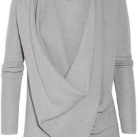 Donna Karan | Draped cross-front cashmere sweater | NET-A-PORTER.COM