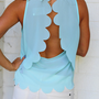 Half Shell Scallop Tank Top: Mint | Hope&#x27;s