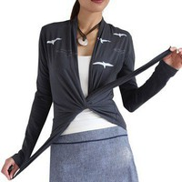 In Flight Cotton Wrap Top