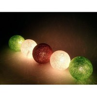 Amazon.com: I Love Handicraft Fresh Forest Color Tone Cotton Ball String Lights Patio Wedding and Party Decoration (20 Balls/set): Everything Else