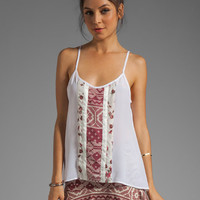 Charles Henry Contrast Panel Cami in Red Patchwork from REVOLVEclothing.com