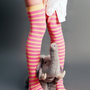 Striped Over Knee Long Socks