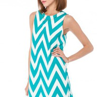 Forever Zig Zag Tank Shift in Seawave - ShopSosie.com