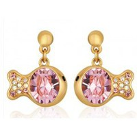 Crystal clownfish earrings cute earrings-pink_Earrings_Jewelry_Mili fashion Trade Co.Ltd