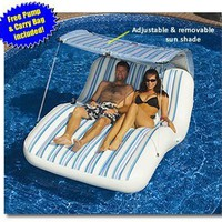 Luxury Cabana Extra Large Lounger is Ideal for the Beach, Pool, Lake and Land!:Amazon:Sports &amp; Outdoors