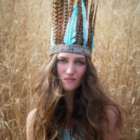 Little Doe Adama Feather Headdress at Free People Clothing Boutique
