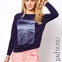 ASOS PETITE Exclusive Follow Your Heart Sweat Top