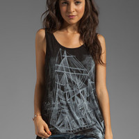 Lauren Moshi Claire Ship Tuck Tank in Black from REVOLVEclothing.com