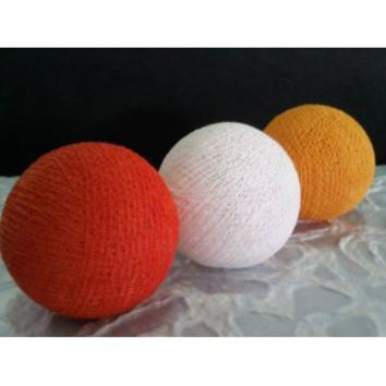 Amazon.com: I Love Handicraft Orange Yellow Gold and White Color Set Cotton Ball String Lights Patio Wedding and Party Decoration (20 Balls/set): Everything Else