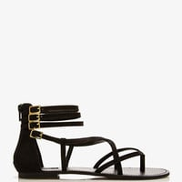 Strappy Faux Leather Thong Sandals | FOREVER 21 - 2046391935