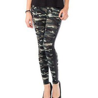Camo and Leather Leggings - 2020AVE