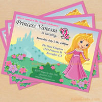Princess Birthday Invitation Printable DIY File