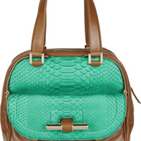 Jimmy Choo Justine leather and python tote  49% at THE OUTNET.COM