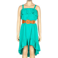 FULL TILT Belted Girls Hi Low Low Dress
