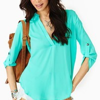 Shoreline Blouse - Mint