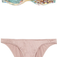 Zimmermann Amity underwired bandeau bikini – 60% at THE OUTNET.COM
