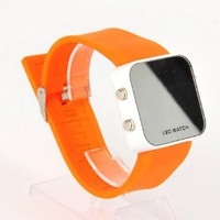 Amazon.com: Mirror Wristwatch Sport LED Digital Watch Orange: Toys &amp; Games