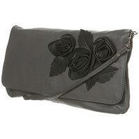 Leather Applique Flower Bag - Topshop