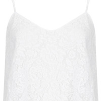 Lace Crop Cami - Tops - Clothing - Topshop