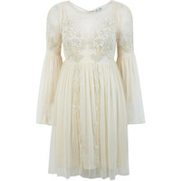 Miss Selfridge Cream Midsummer Smock Dress