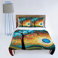 DENY Designs Home Accessories | Madart Inc. Aqua Burn Duvet Cover