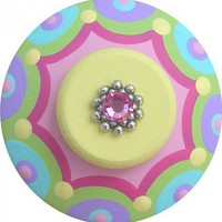 Colorful Hand Painted Jeweled Drawer Knob | LisaEverettDesigns - Children's on ArtFire