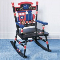 Levels of Discovery Rock A Buddies Railroad Rocker - RAB00023 - Rocking Chairs - Nursery Furniture - Baby & Kids' Furniture - Furniture