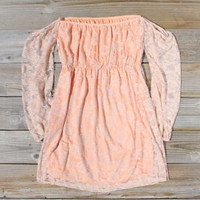 Desert Lace Dress in Peach, Sweet Women&#x27;s Party Dresses