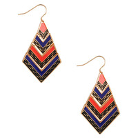 Colorblocked Tribal Earrings | FOREVER21 - 1000043704