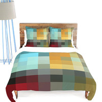 Green &amp; Blue Refreshing Duvet Cover