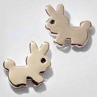 Cotton Tail Stud Earrings