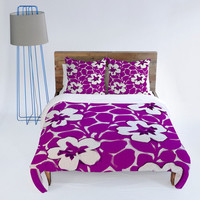 DENY Designs Home Accessories | Jacqueline Maldonado Painted Floral Magenta Duvet Cover