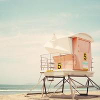 Beach Tower  Art Print by Bree Madden