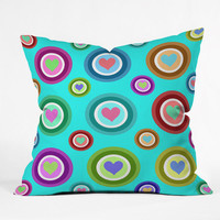 DENY Designs Home Accessories | Lisa Argyropoulos Love Love Love Aquamint Outdoor Throw Pillow